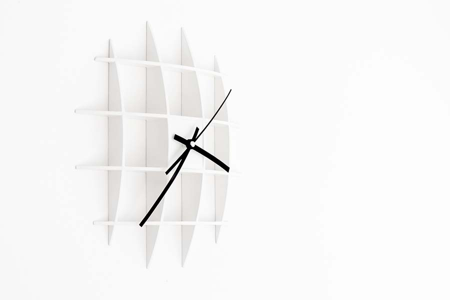 Ruudukko Wall Clock. The Basic Design Idea Is A Simple And Minimalistic  Grid Structure That Forms A Shape Of A Sphere Partly Appearing Out Of Fresh  Painted ...